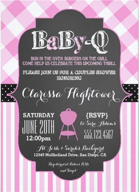 barbeque invitation templates psd word ai