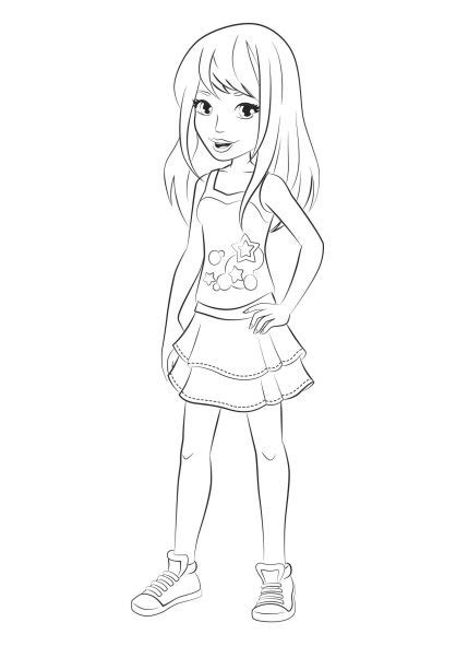 lego friends stephanie coloring pages lego coloring