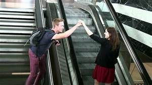 Prank  High-fiving Girls On Escalator  How To Pick Up Girls