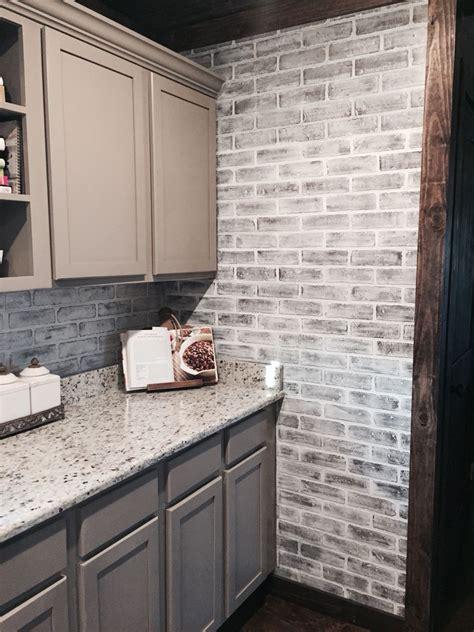Kitchen Backsplash Panel by Lowes Brick Panels Painted White Brick Backsplash Paint