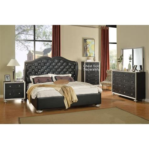 grand opening black  piece king bedroom set