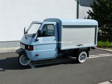 piaggio ape neu piaggio ape tm werbetr 228 ger verkaufsfahrzeug und lieferfahrzeug eismaschine de