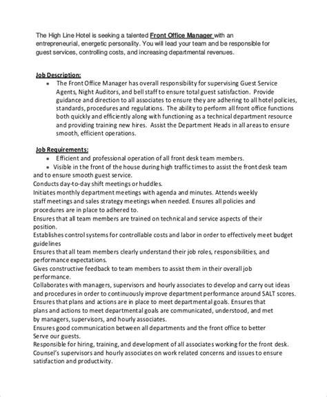 front desk associate job description front desk job description duties job description job