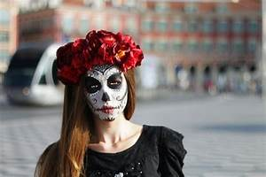 Tete De Mort Mexicaine Femme : t te de mort comme maquillage halloween ~ Melissatoandfro.com Idées de Décoration
