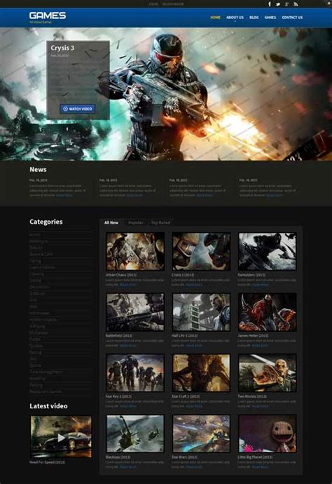 Best Gaming Website Templates Freshdesignweb