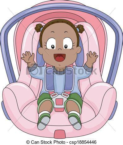 attache siege bebe bébé voiture siège attaché voiture illustration