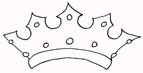 Crown Template For by Printable Paper King Prince Princess Crown