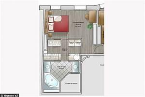 14 plans pour moderniser un appartement With plan de suite parentale avec salle de bain dressing