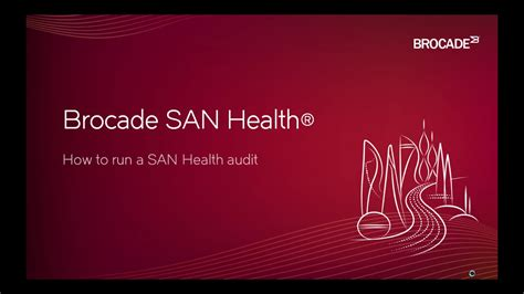 How to run a Brocade SAN Health Audit - YouTube