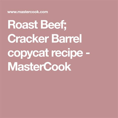 Get the latest cracker barrel menu and prices, along with the restaurant's location, phone number and business hours. Error   Recipe   Cracker barrel copycat recipes, Cracker ...