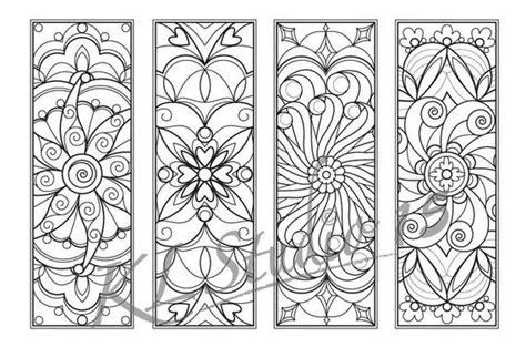 mandala coloring bookmarks instant relax mandala