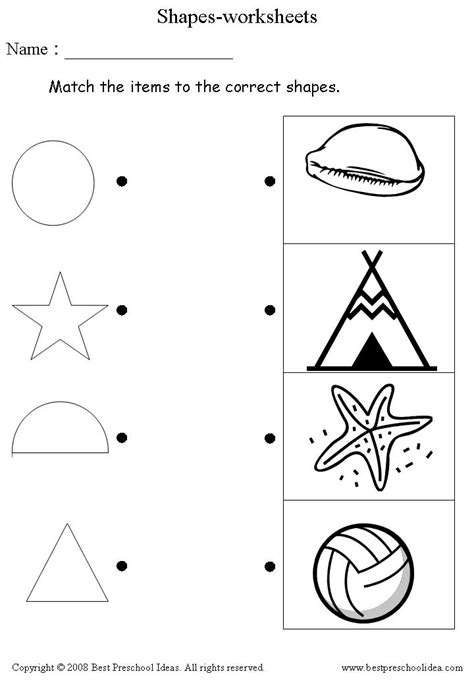 15 Best Images Of Shape Review Worksheets For Preschoolers  Coloring Pages, Math Shapes