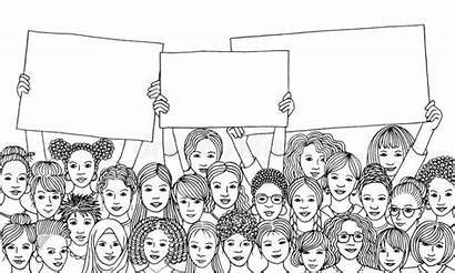 Diverse Holding Empty Signs Vrouwen Tekens Gruppo