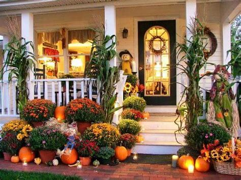 creative ideas  thanksgiving porch decorations