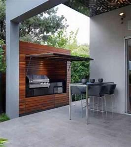 Abri Pour Barbecue Exterieur : id es d 39 inspiration pour int grer un barbecue ou une ~ Premium-room.com Idées de Décoration