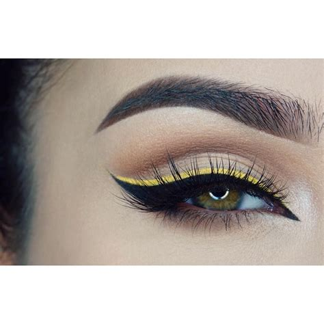 yellow  black eyeliner eyeliner   eye