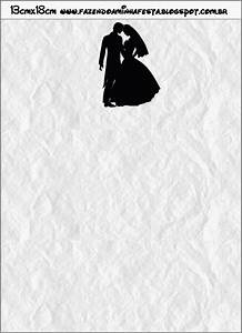 Cute Wedding Couple Silhouette: Free Party Printable. | Oh ...
