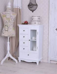 Shabby Style Garderobe : brotschrank villa vintage schrank weiss vitrinenschrank ~ Michelbontemps.com Haus und Dekorationen