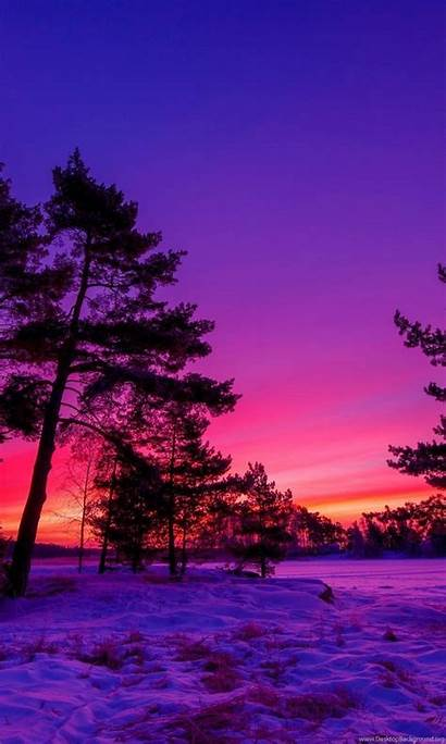 Backgrounds Winter Desktop Wallpapers Sunset Background Android
