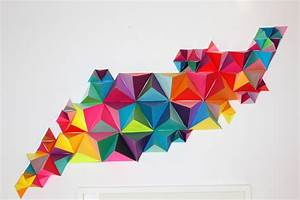 3D Geometric Wall Sculpture-sm   Make: DIY Projects and ...