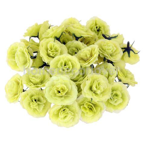 pcs artificial silk fake rose flower heads bulk wedding