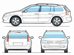 Diagram  Commuter Van Damage Inspection Diagram