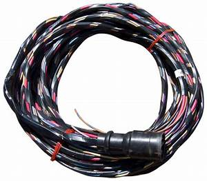 30 Ft  Boat Wiring Harness  Wired For Voltmeter And Mercury Style Cannon Plug