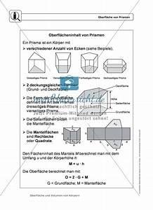 Prisma Berechnen übungen : k rper oberfl che und volumen von prismen infotexte ~ Themetempest.com Abrechnung