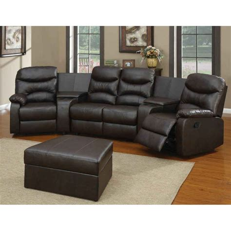 leather reclining sectional black leather reclining sectional products homesfeed