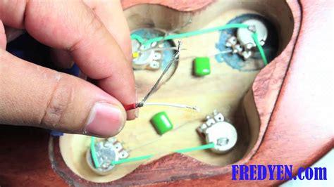 Diy Les Paul Guitar Kit Part Wiring The Pickups Youtube