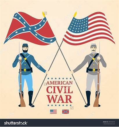 Civil War Clipart American Clipground Flags Lightbox