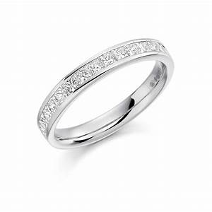 Platinum 075ct princess cut diamond vintage wedding ring for Platinum princess cut wedding rings