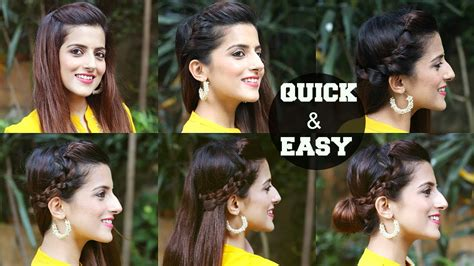 quick easy indian hairstyles  medium  long hair
