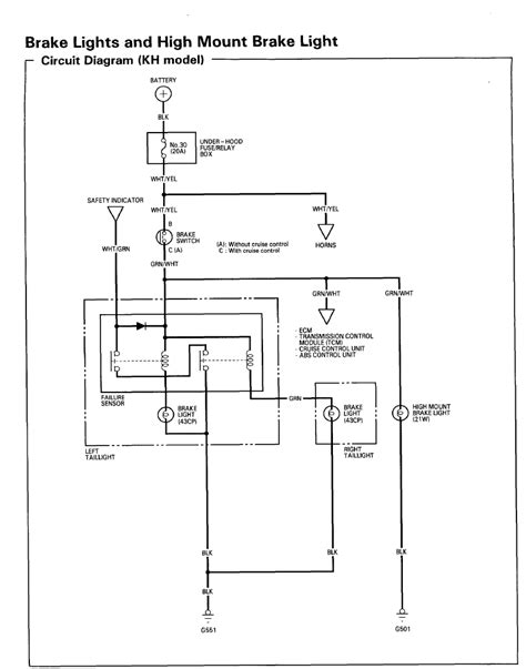 1991 Honda Accord Brake Light Wiring Diagram by No Brake Lights No Horn No Cruise Honda Tech
