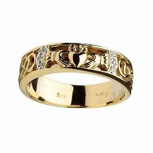 rings gents claddagh celtic knot diamond set wedding With diamond claddagh wedding ring