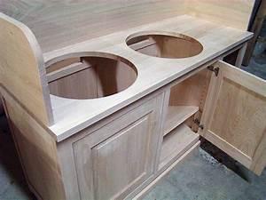 brut de bois fabrication de meubles sur mesure pour les With porte d entrée alu avec meuble salle de bain bois massif pas cher
