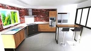 cuisine avec cuisson d39angle style industriel a aubie With table de cuisson d angle