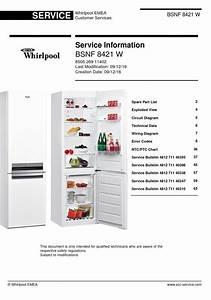 Whirlpool Bsnf 8421 W Refrigerator Service Manual