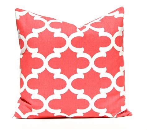 pillow shams size coral pillow decorative pillow throw pillow coral pillow