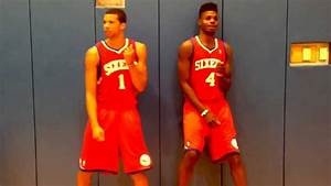 Nerlens Noel and Michael Carter-Williams Dougie at NBA ...