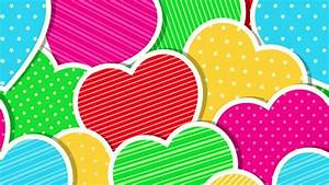 Colorful Hearts Wallpapers - Wallpaper Cave