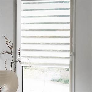 Store Enrouleur Polyester JourNuit INSPIRE Blanc 7780 X
