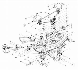 34 Troy Bilt Mower Deck Diagram