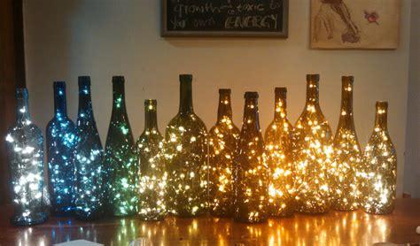 wine bottle decor lights inside wine bottle
