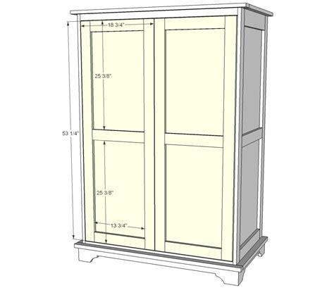 ana white build  toy  tv armoire   easy diy