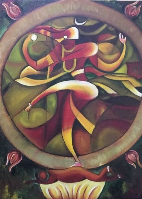 buy nataraja  dancing shiva oil painting  chetna