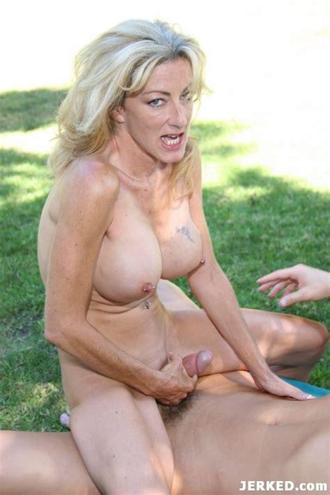 Nasty Blonde Mamma Fucking Dick On Hardcore Sex Outdoors