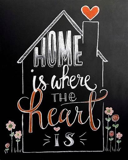 Chalkboard Quotes Heart Sign Chalk Flowers Blackboard
