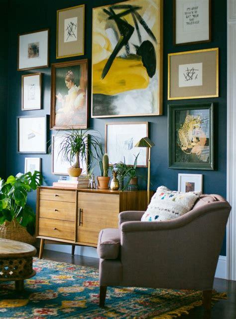 chignon mur exterieur maison deco scandinave salon bleu