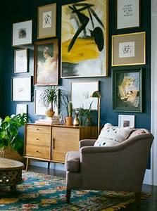 Mur Bleu Pétrole : 1001 id es d co pour illuminer l 39 int rieur avec la couleur ocre ~ Melissatoandfro.com Idées de Décoration